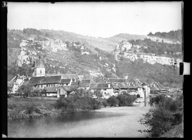 Saint-Ursanne, env. 1860, tirage d'après calotype