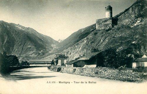 Martigny, pont et tour de la Bâtiaz