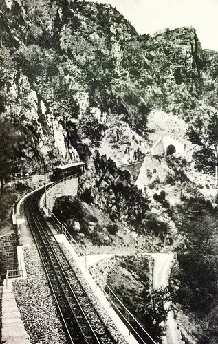 En train vers Châtelard