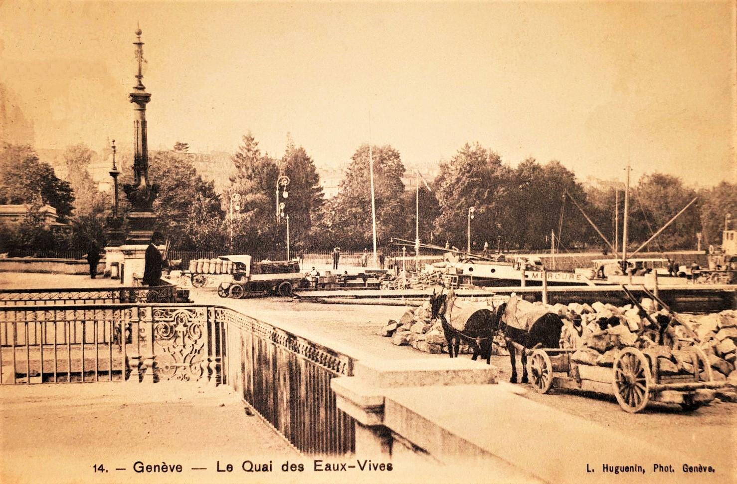 Le Quai des Eaux Vives à Genève