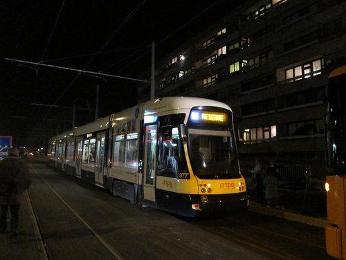 Meyrin 19 11 2009 essai du premier tram 14