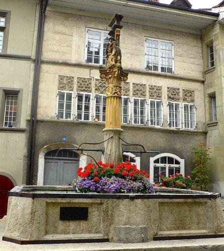Fribourg, la fontaine de la Samaritaine