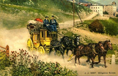 Une diligence postale de Bernina