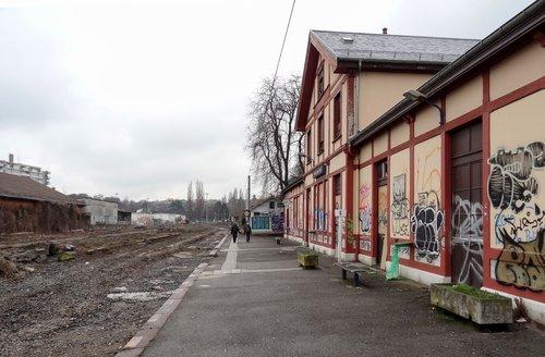 Genève, la Gare des Eaux-Vives en janvier 2012
