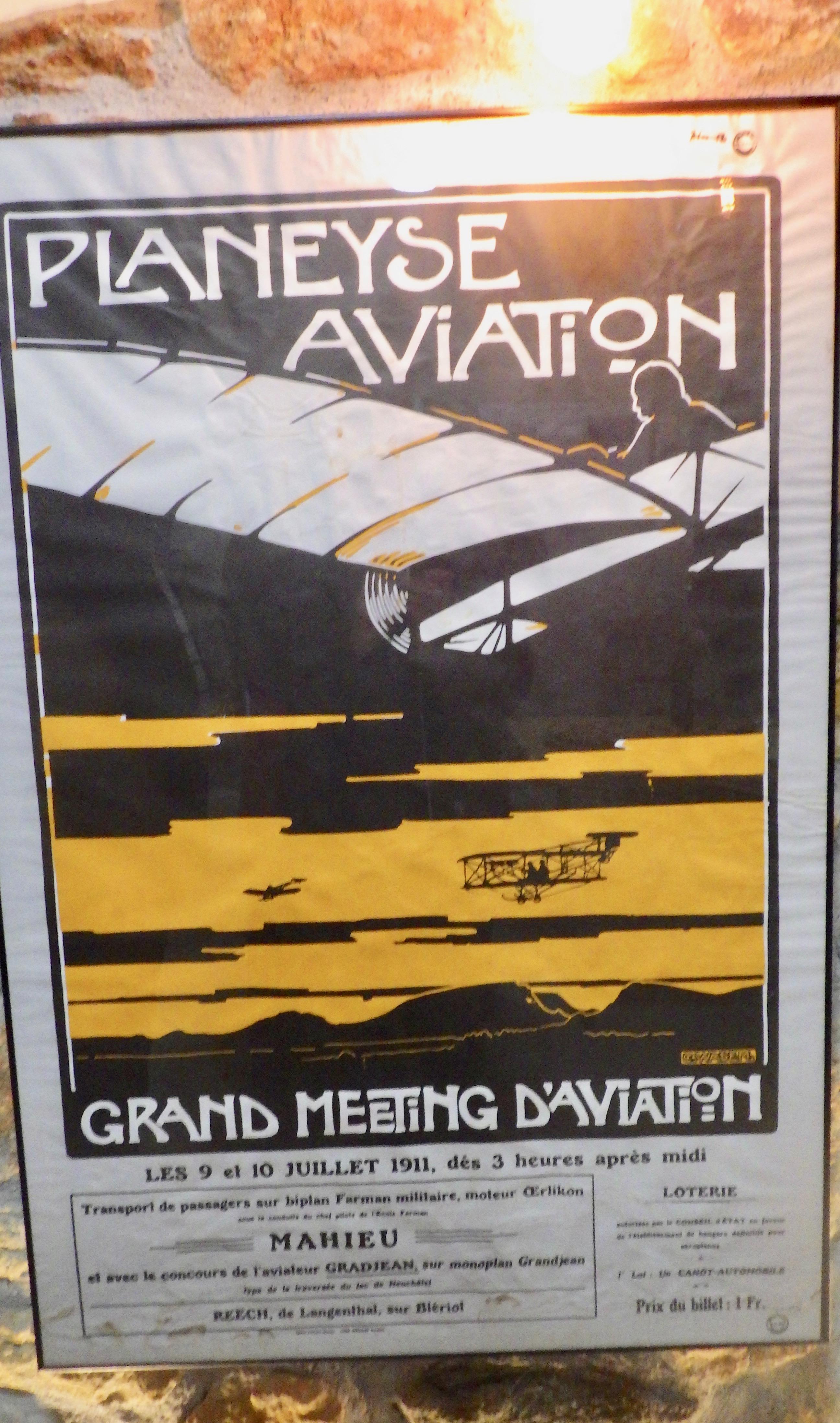 Affiche du Meeting d'aviation de Planeyse