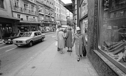 Genève, la Rue du Rhône en 1983