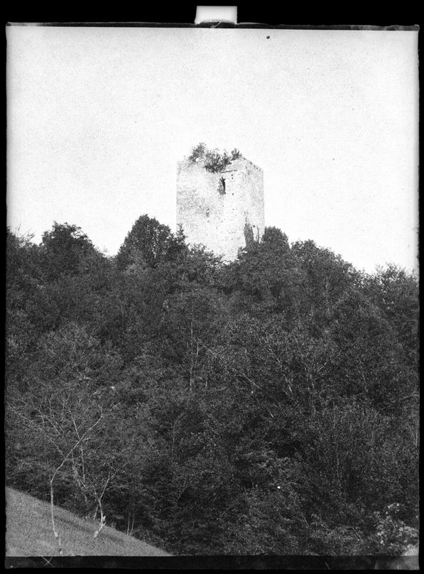 Tour de Milandre, env. 1860, tirage d'après calotype