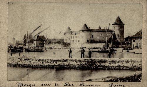 Le Port de Morges vers 1870