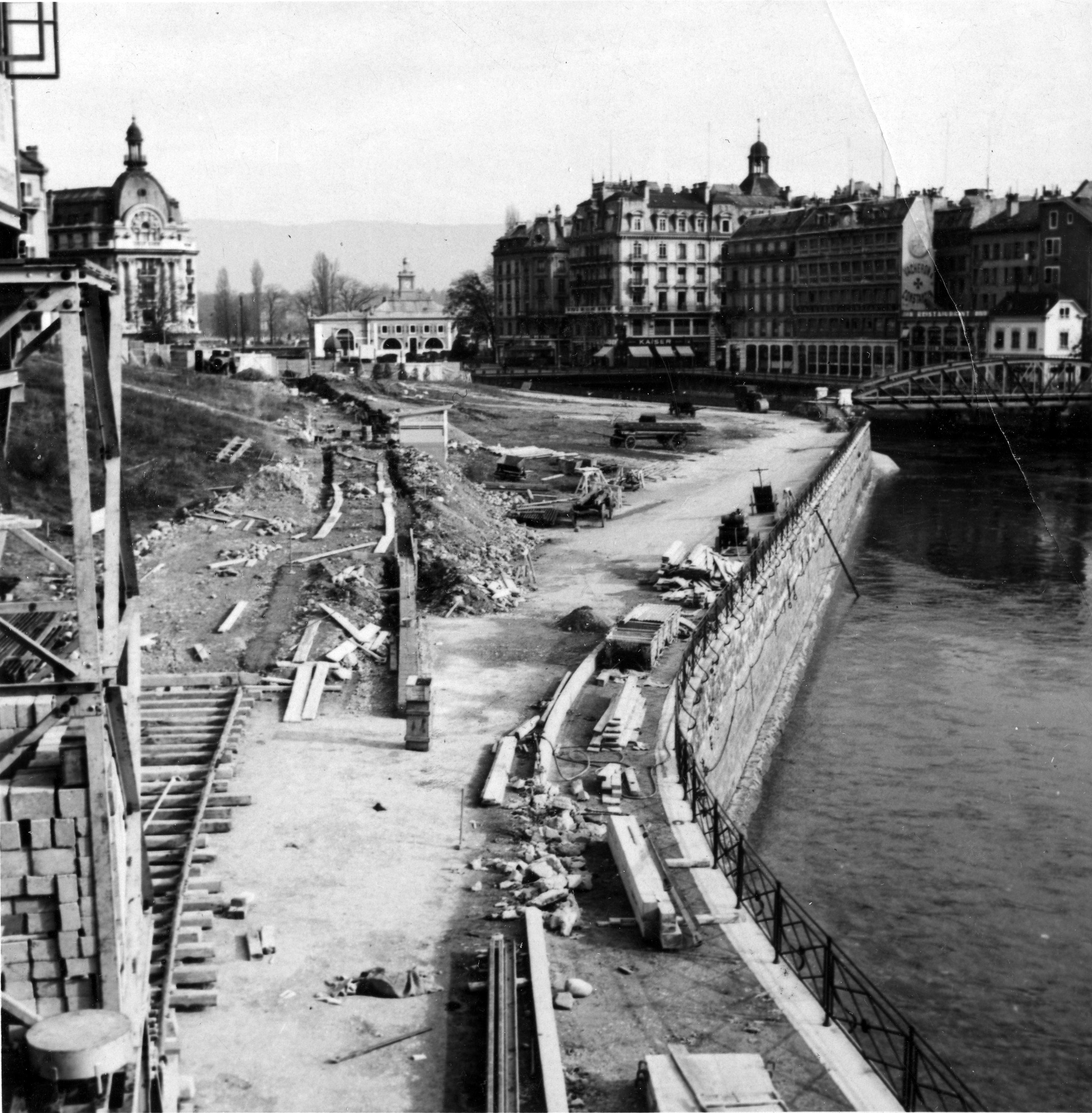 Genève - les bords du Rhône: Hier/aujourd'hui