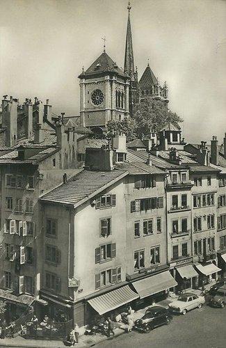 Genève le Bourg de Four la Clémence et St Pierre