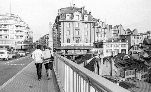 Lausanne, sur le Pont Charles Bessières
