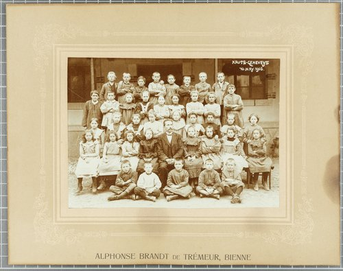 Classe d'école, Hauts-Geneveys, 1905