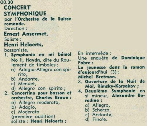 Alexandre BORODIN, Symphonie no 2, OSR, Ernest ANSERMET, 1957
