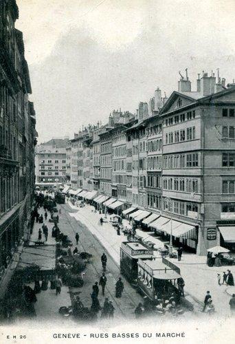 Genève, les Rues-Basses du Marché