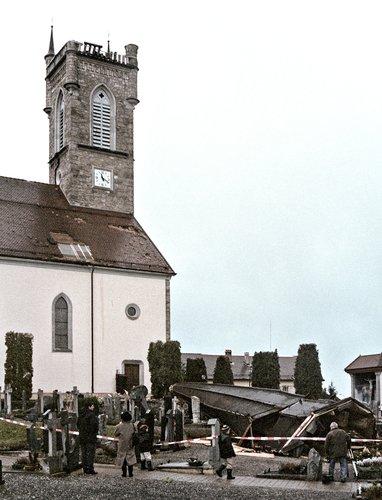 Lothar, L'Église d'Attalens décapitée