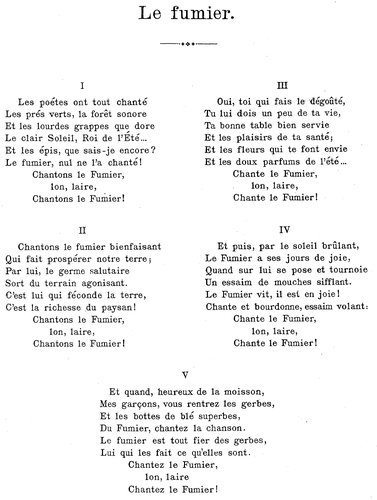 Émile JAQUES-DALCROZE, Le fumier, Charles JAUQUIER