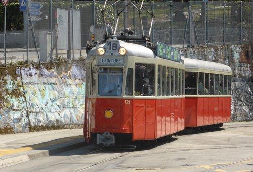 Genève, un ancien tram
