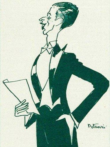 Hugues CUÉNOD croqué par PETROVIC, 1933