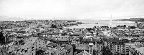 Genève, la Rade vue de Saint-Pierre