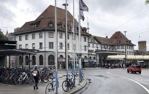 Avant - Après: Fribourg et la gare