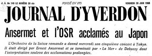 Maurice RAVEL, La Valse, OSR, Ernest ANSERMET, 1968, Tokyo