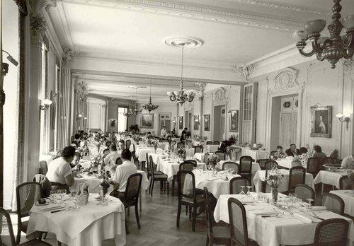 La salle de dîner du Grandhôtel Giessbach
