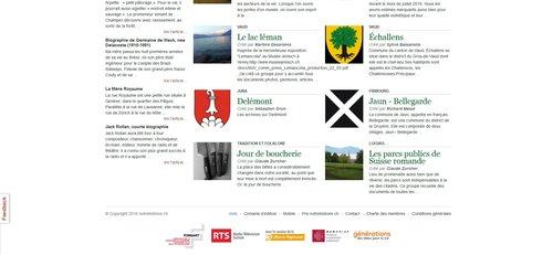 """Notre Histoire ancien site Internet, bas de la page """"Consultation"""""""