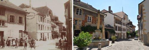 Auvernier en 1910 et en 2018