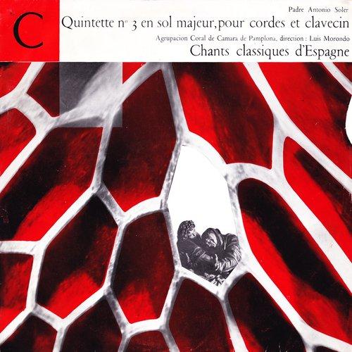 Padre Antonio SOLER, Quintette No 3 en sol majeur pour cordes et clavecin, Germaine VAUCHER-CLERC, clavecin, membres de l'Orchestre de chambre de Radio-Genève, Edmond APPIA, «Club Français du Disque» CFD 62, publié en 1956