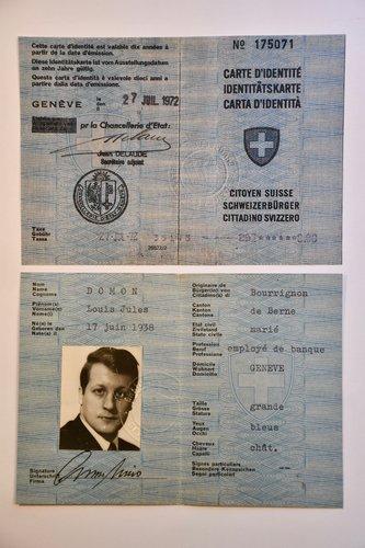 Carte d'identité de Louis Jules Domon