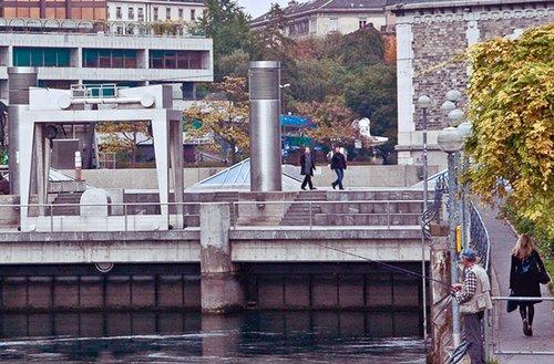 Barrage du Seujet, Genève