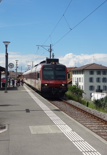Le train en gare de St-Gingolph