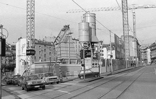 Genève, Eaux-Vives 2000, début de construction