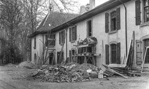 Travaux de transformation du Château de Bonmont