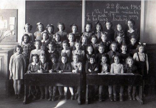 37 élèves en 1945 !
