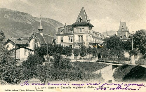 Sierre et le Château Bellevue