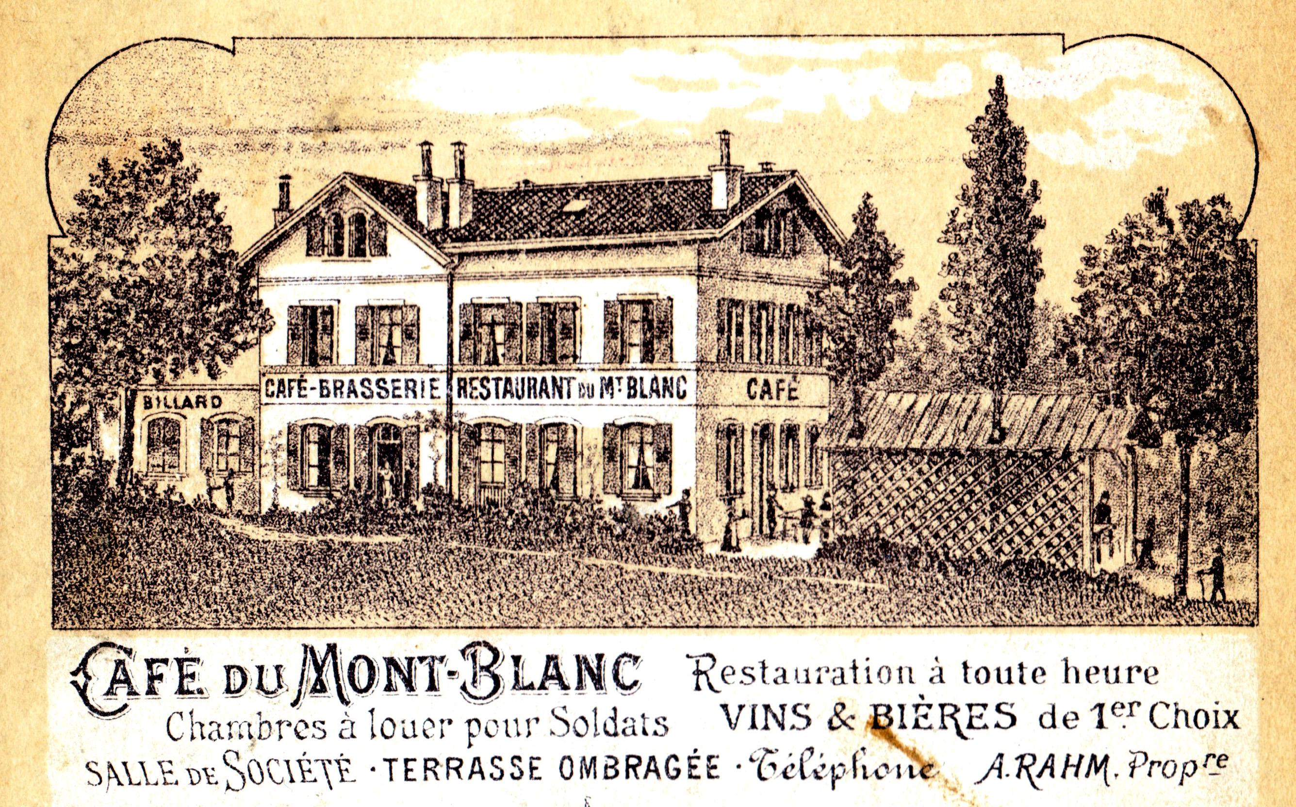 Lausanne, Pontaise, publicité Café du Mt Blanc