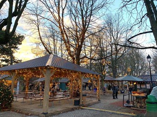 Genève, les Bastions, le marché de Noël