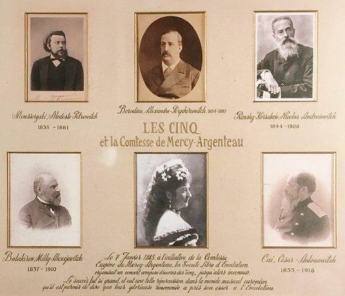 N.Rimski-Korsakow, le Groupe des Cinq