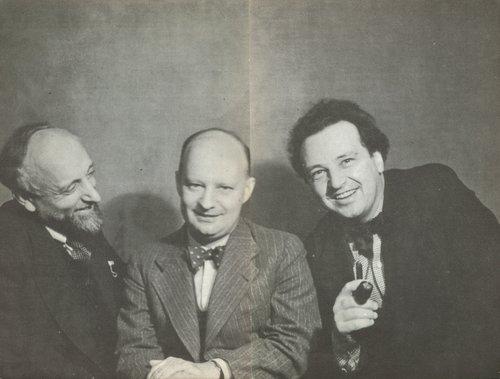 Ernest ANSERMET, Paul HINDEMITH et Arthur HONEGGER, Paris, juin 1935