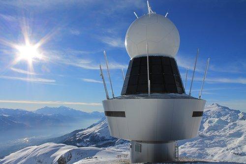 Radar météo à la Plaine morte