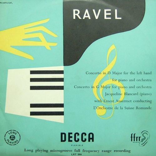 Maurice RAVEL, Concerto en sol majeur, M 83, Jacqueline BLANCARD, OSR, Ernest ANSERMET, 1953