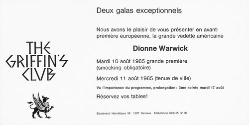 Dionne Warwick - Invitation Gala at The Griffin's Club
