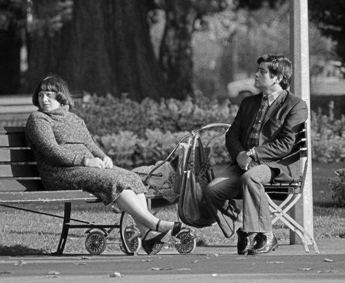 Genève, deux inconnus au Jardin Anglais