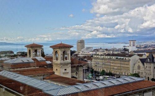 Lausanne - Tourelles du Palais de Rumine