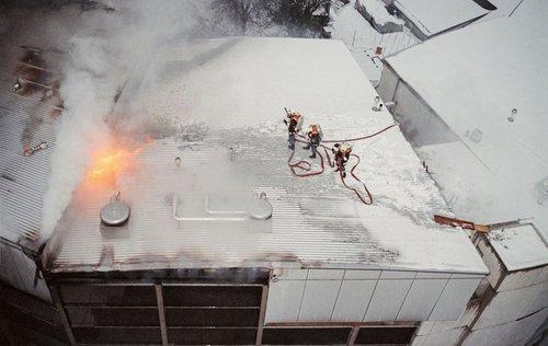 """Incendie à """"Gilamont-Village"""", Vevey 1999"""