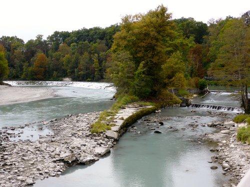 Le barrage sur l'Arve à Vessy