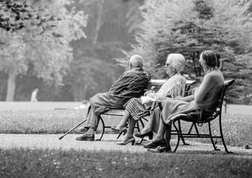 Genève, repos au parc