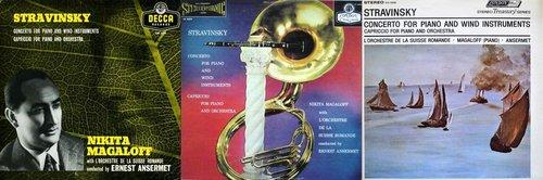 Igor STRAWINSKI, Concerto pour piano, Nikita MAGALOFF, OSR, Ernest ANSERMET, 1955