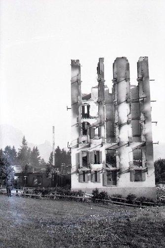 Villars/Ollon, incendie du Grand Hôtel